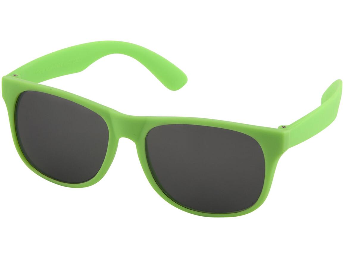 Retro einfarbige Sonnenbrille, neongelb bedrucken, Art.-Nr. 10050104