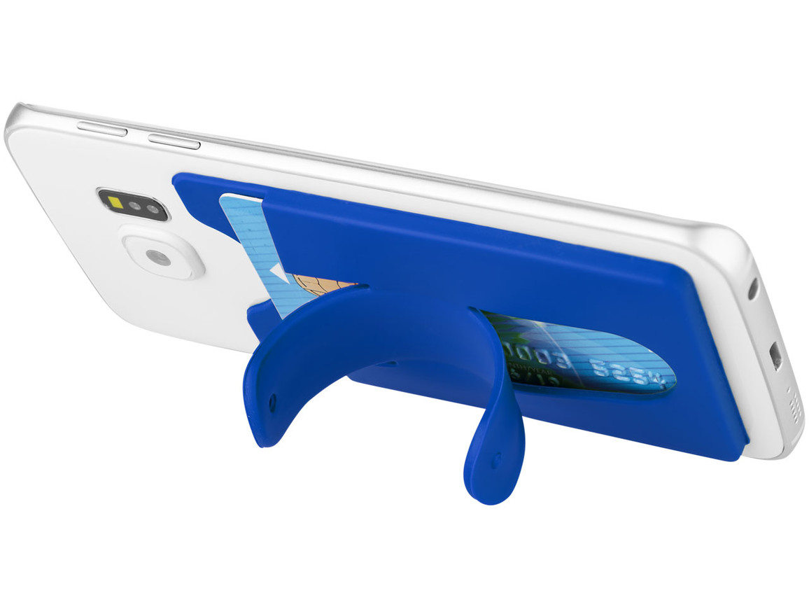 Stue Silikon Smartphonehalter und -hülle, royalblau bedrucken, Art.-Nr. 13421802