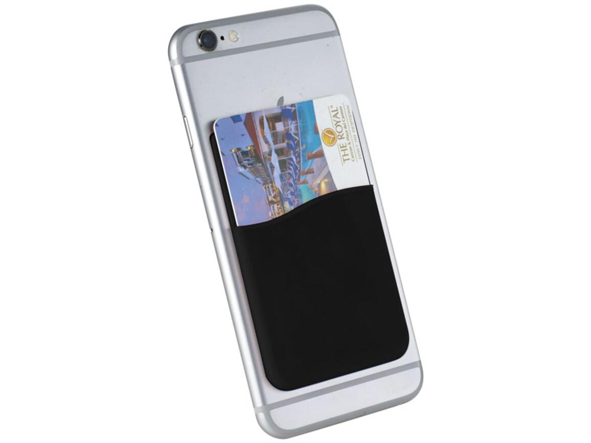 Slim Kartenhüllen-Zubehör für Smartphones, schwarz bedrucken, Art.-Nr. 13421900