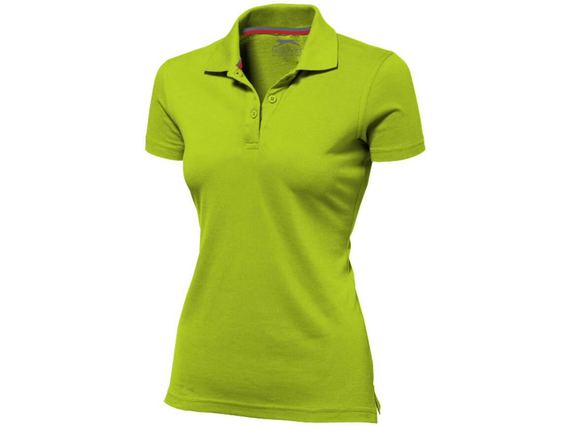 Advantage Poloshirt für Damen, apfelgrün bedrucken, Art.-Nr. 33099681