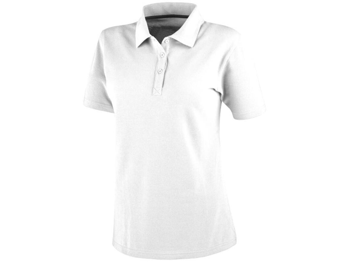 Primus Poloshirt für Damen, weiss bedrucken, Art.-Nr. 38097010