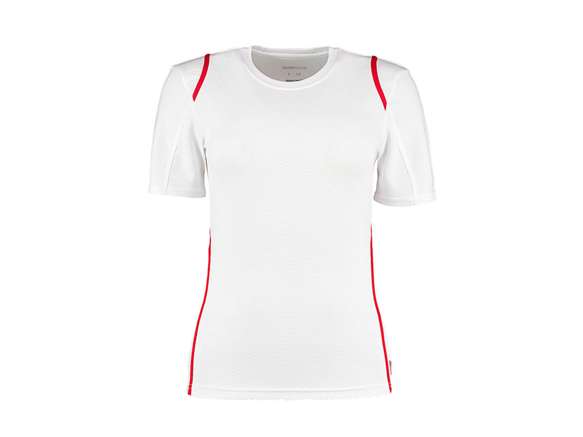 Kustom Kit Women`s Regular Fit Cooltex® Contrast Tee, White/Red, M bedrucken, Art.-Nr. 002110573