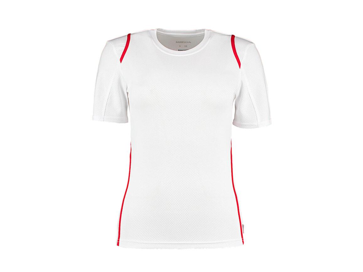 Kustom Kit Women`s Regular Fit Cooltex® Contrast Tee, White/Red, XL bedrucken, Art.-Nr. 002110575