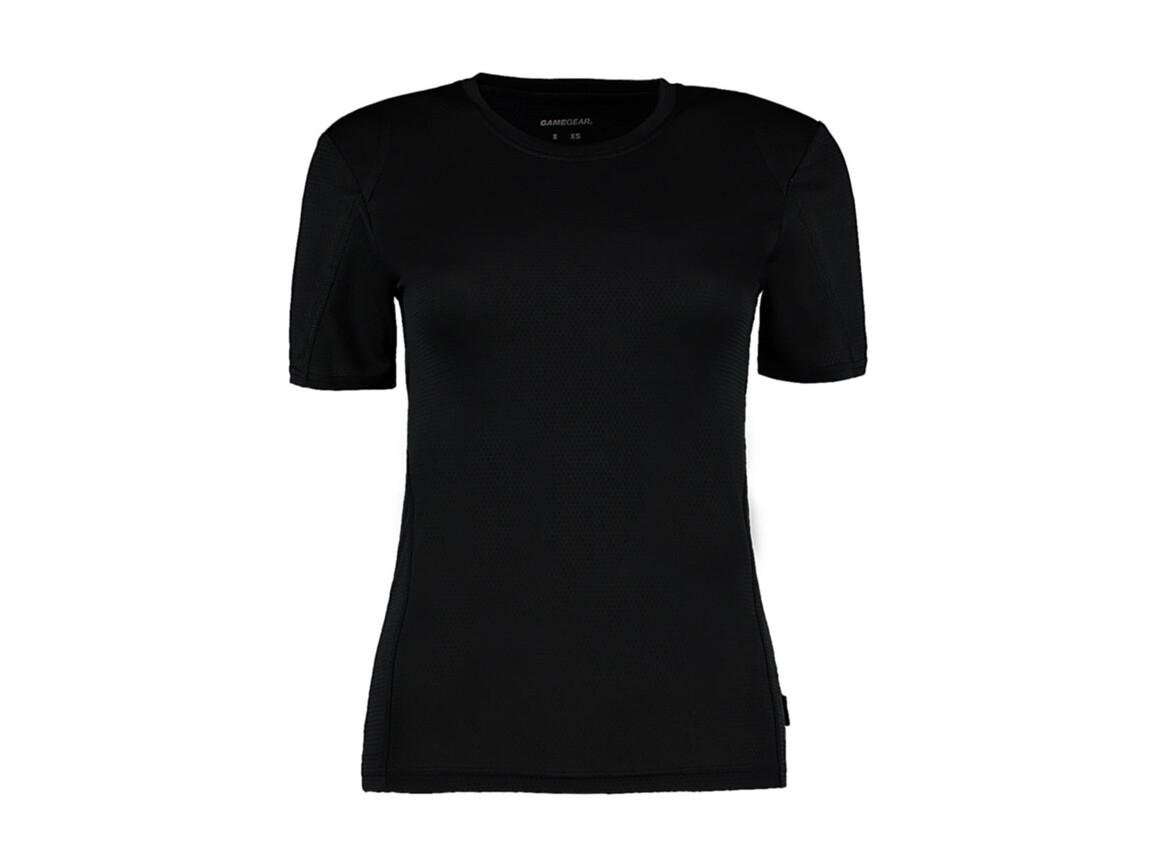 Kustom Kit Women`s Regular Fit Cooltex® Contrast Tee, Black/Black, S bedrucken, Art.-Nr. 002111522