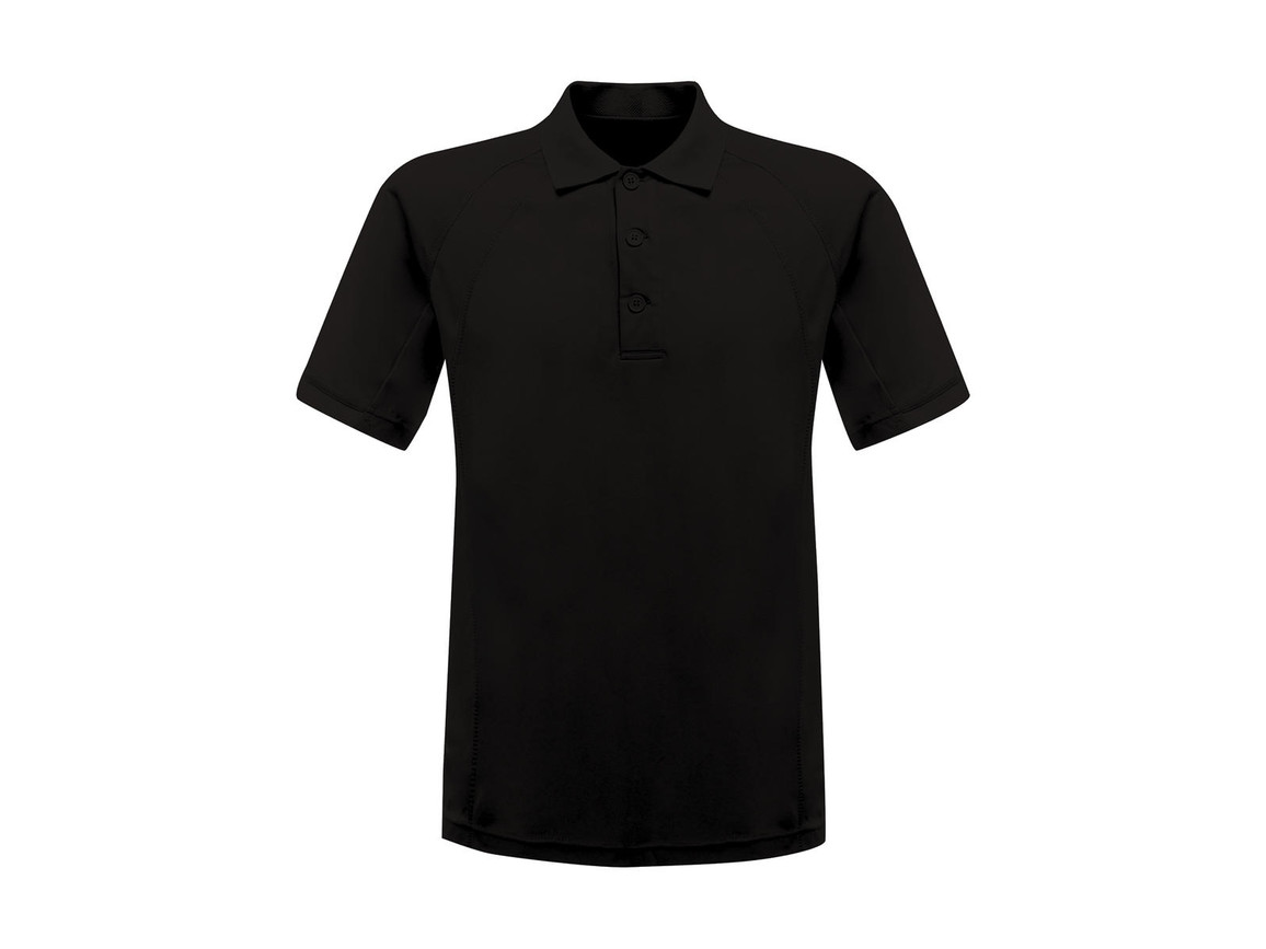 Regatta Coolweave Wicking Polo, Black, XL bedrucken, Art.-Nr. 005171016