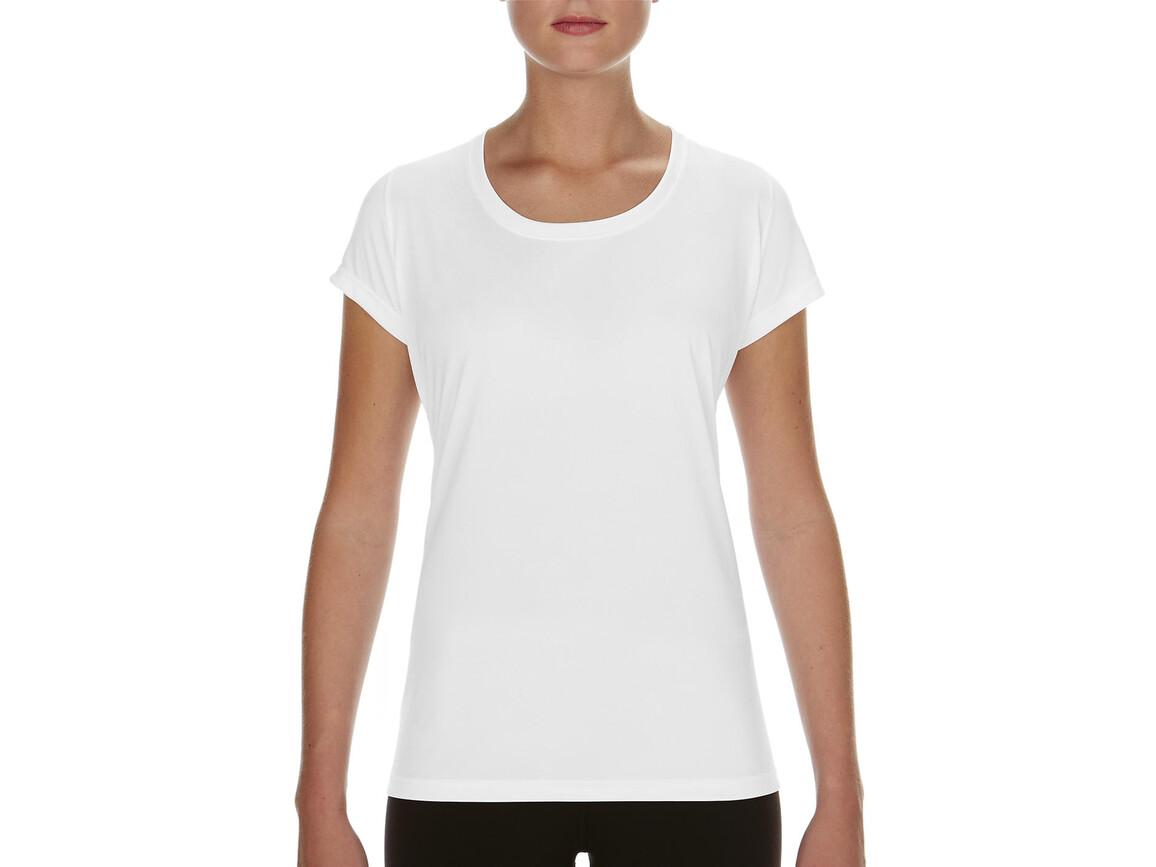 Gildan Performance Ladies` Core T-Shirt, White, M bedrucken, Art.-Nr. 010090004