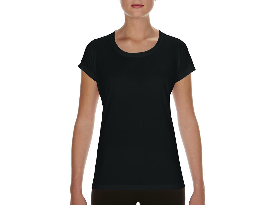 Gildan Performance Ladies` Core T-Shirt, Black, M bedrucken, Art.-Nr. 010091014