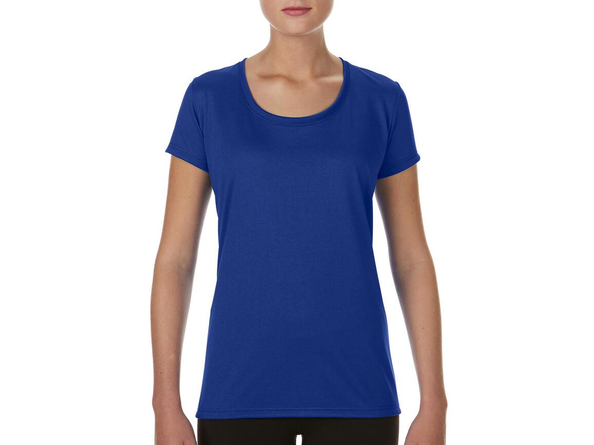 Gildan Performance Ladies` Core T-Shirt, Sport Royal, XL bedrucken, Art.-Nr. 010093026