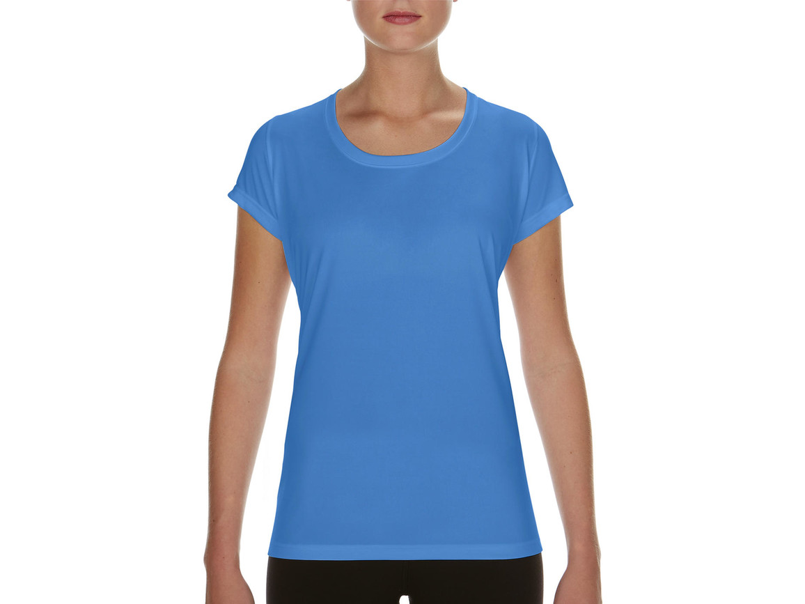 Gildan Performance Ladies` Core T-Shirt, Sport Light Blue, S bedrucken, Art.-Nr. 010093113