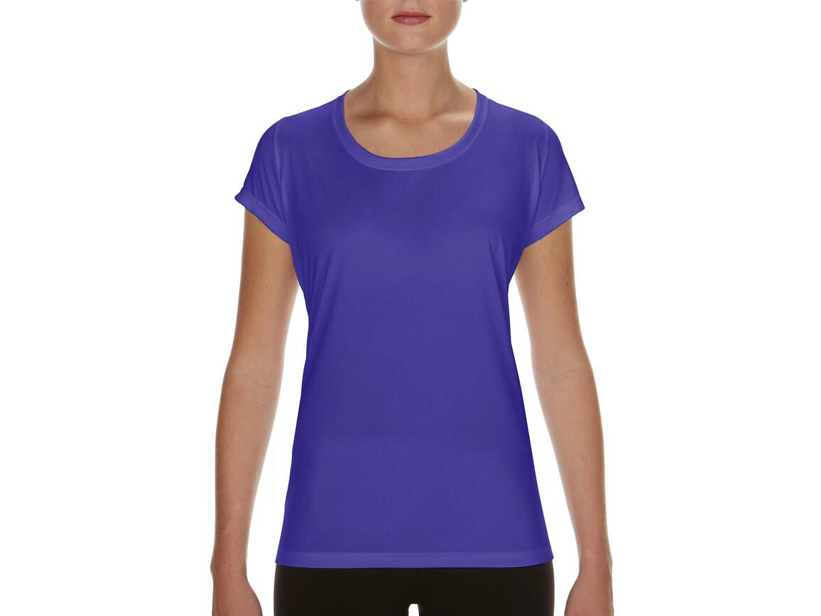 Gildan Performance Ladies` Core T-Shirt, Sport Purple, M bedrucken, Art.-Nr. 010093144