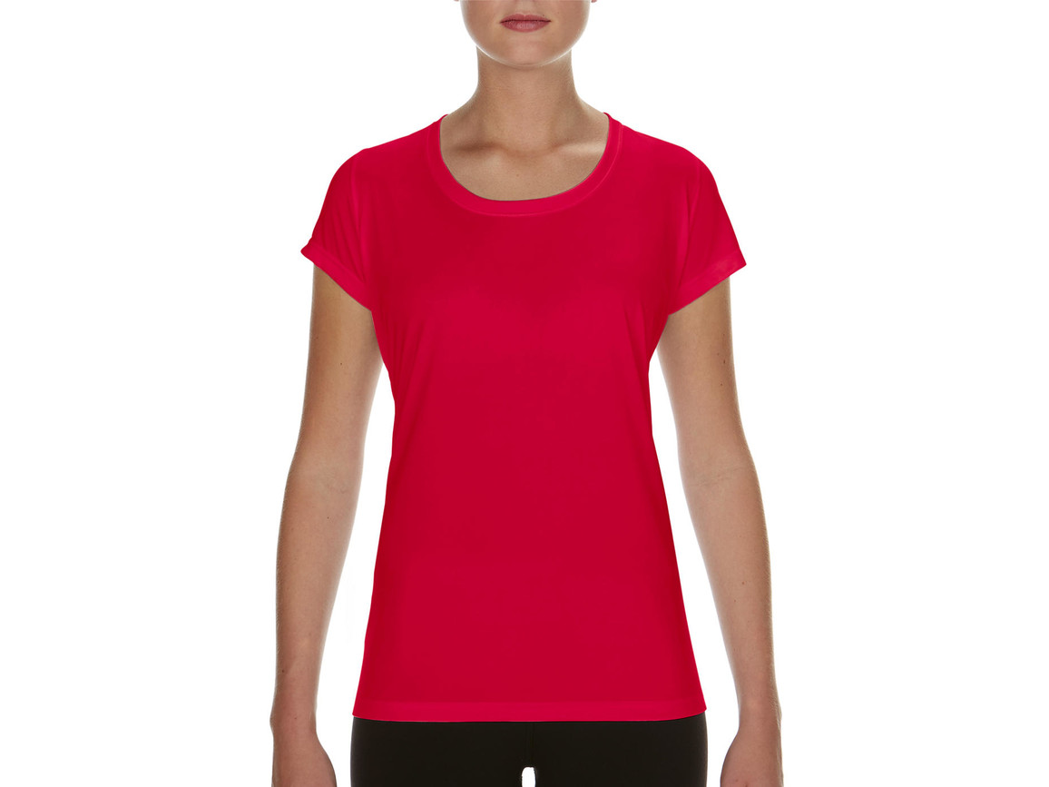Gildan Performance Ladies` Core T-Shirt, Sport Scarlet Red, S bedrucken, Art.-Nr. 010094153