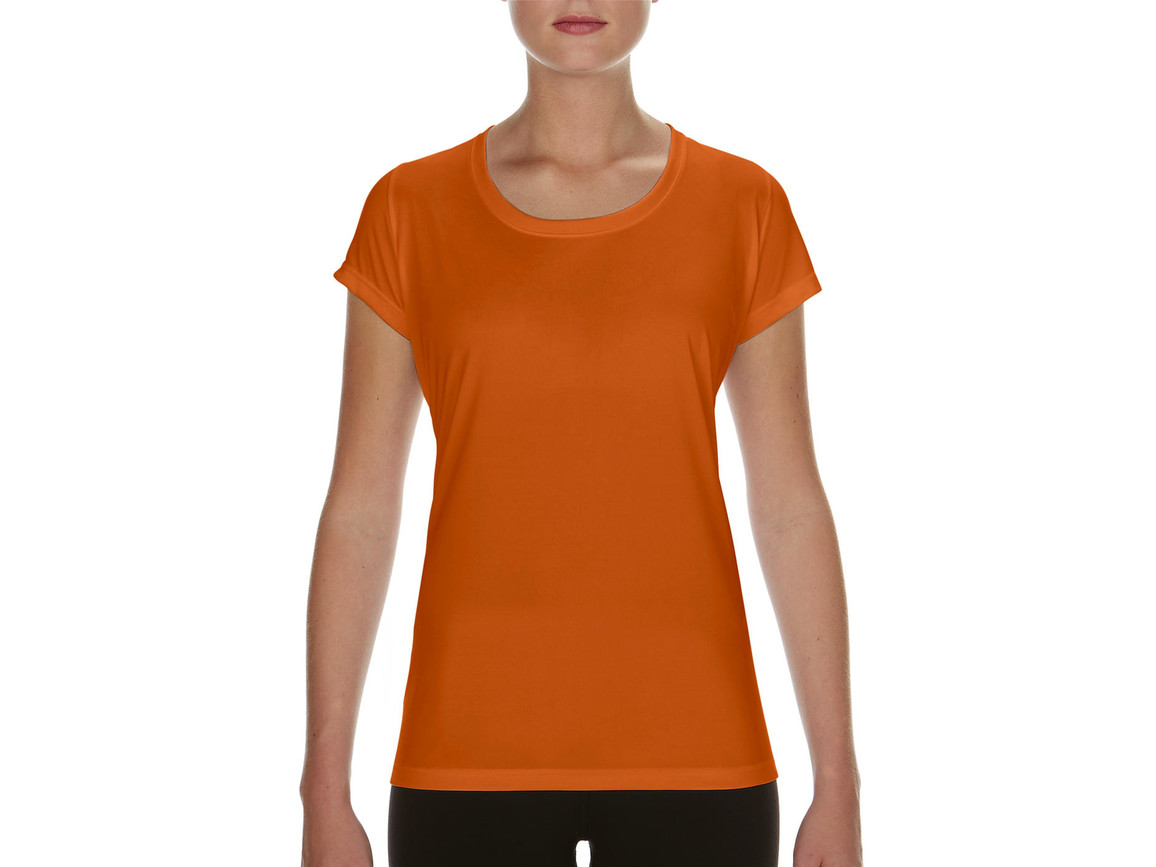 Gildan Performance Ladies` Core T-Shirt, Sport Orange, M bedrucken, Art.-Nr. 010094164