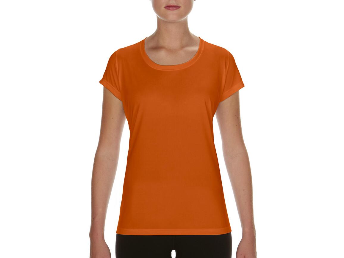 Gildan Performance Ladies` Core T-Shirt, Sport Orange, XL bedrucken, Art.-Nr. 010094166