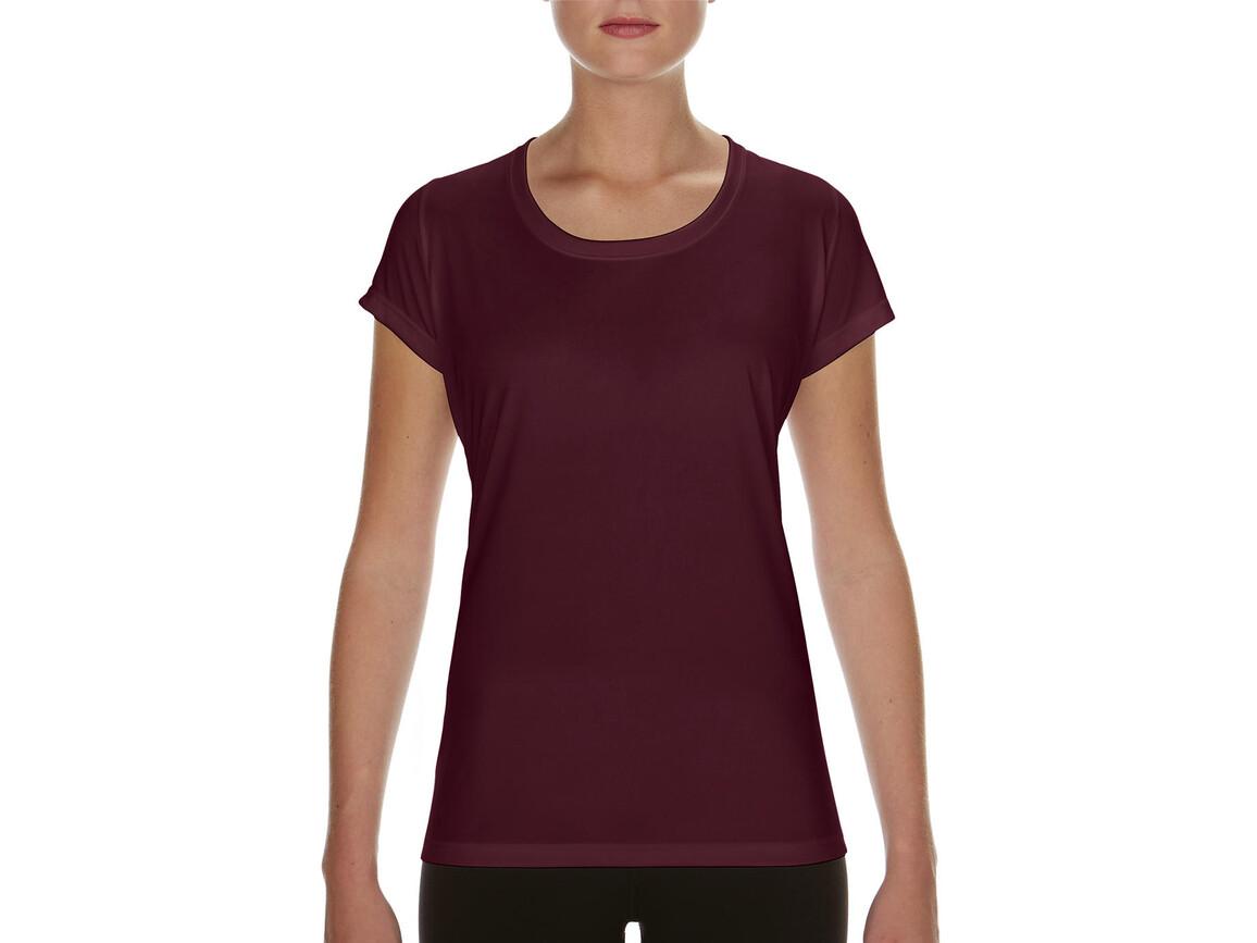 Gildan Performance Ladies` Core T-Shirt, Sport Dark Maroon, S bedrucken, Art.-Nr. 010094183