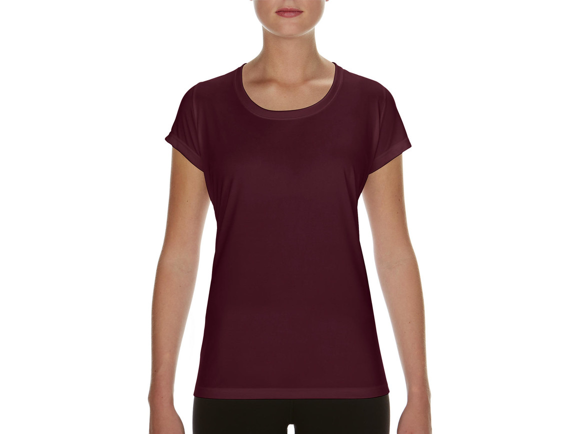 Gildan Performance Ladies` Core T-Shirt, Sport Dark Maroon, L bedrucken, Art.-Nr. 010094185