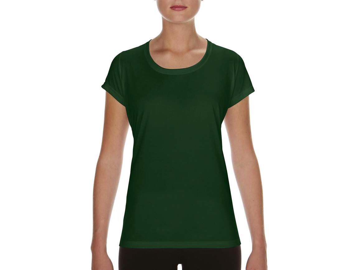 Gildan Performance Ladies` Core T-Shirt, Sport Dark Green, XL bedrucken, Art.-Nr. 010095086