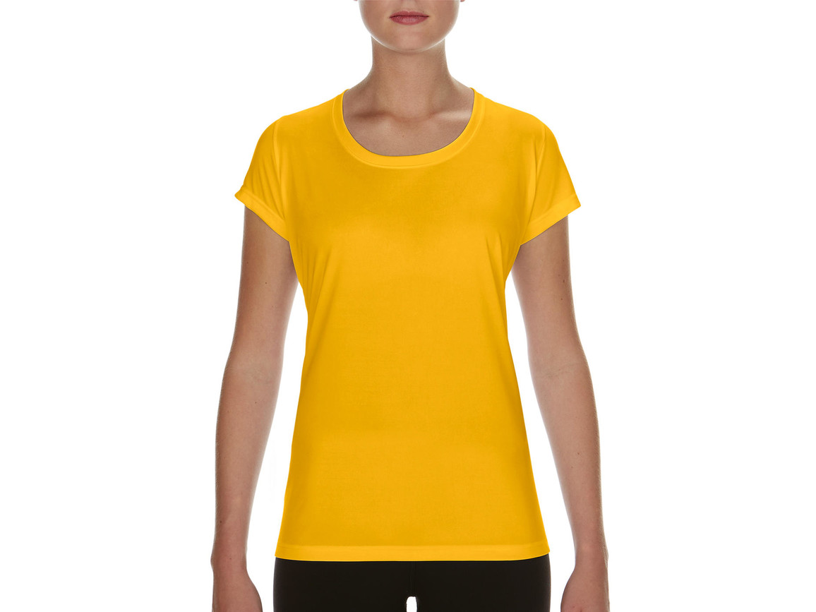 Gildan Performance Ladies` Core T-Shirt, Sport Athletic Gold, XL bedrucken, Art.-Nr. 010096116