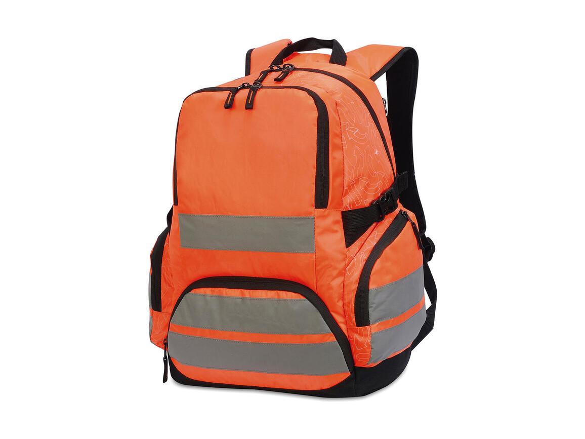 Shugon Hi-Vis Backpack London, Hi-Vis Orange, One Size bedrucken, Art.-Nr. 010384050
