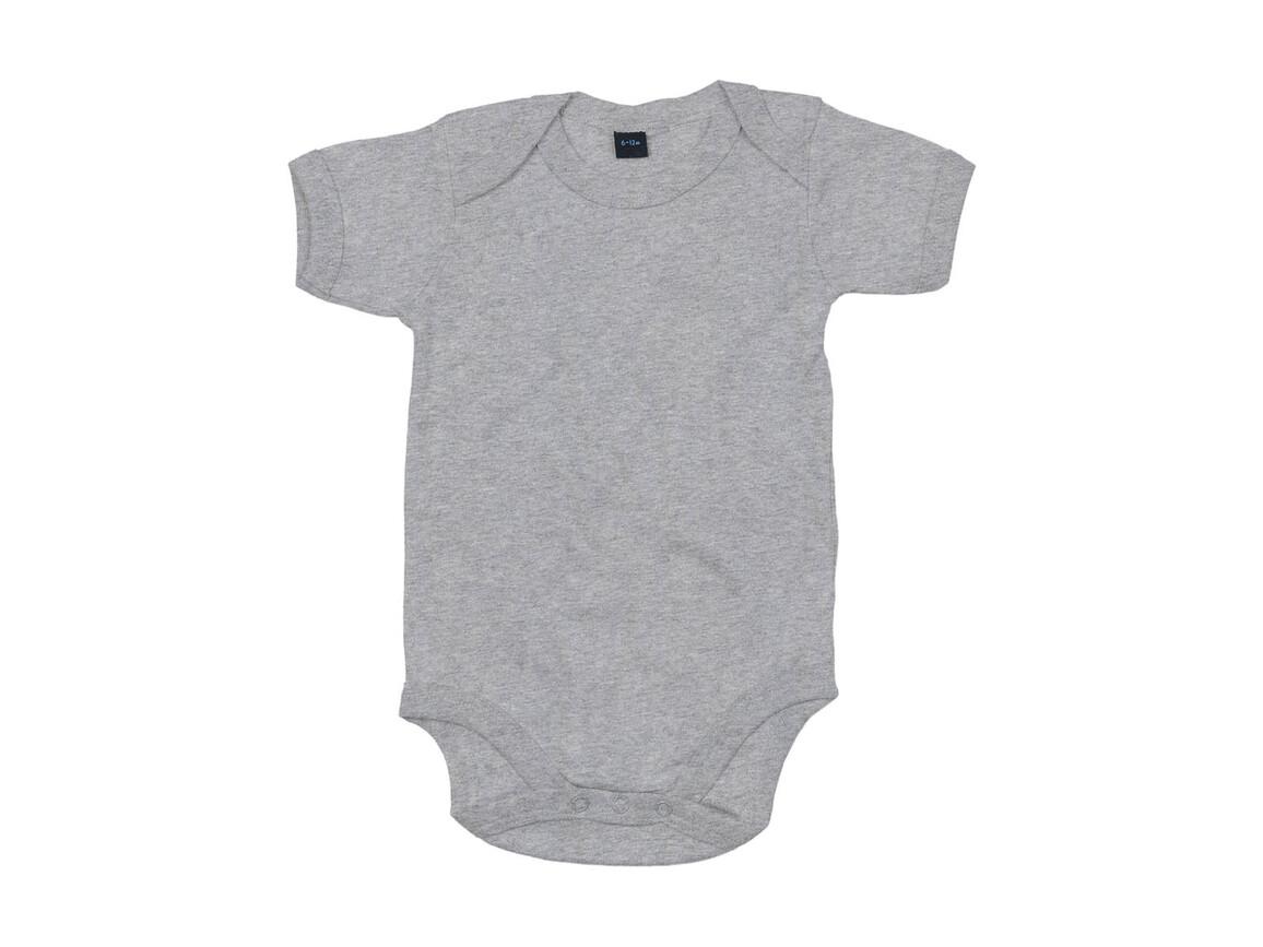 BabyBugz Baby Bodysuit, Heather Grey Melange, 6-12 bedrucken, Art.-Nr. 010471263
