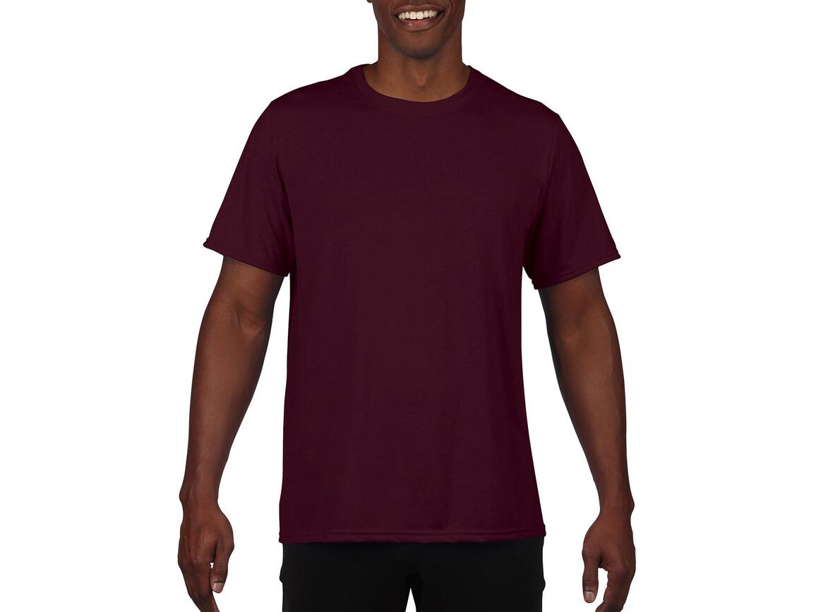 Gildan Performance Adult Core T-Shirt, Sport Dark Maroon, M bedrucken, Art.-Nr. 011094184