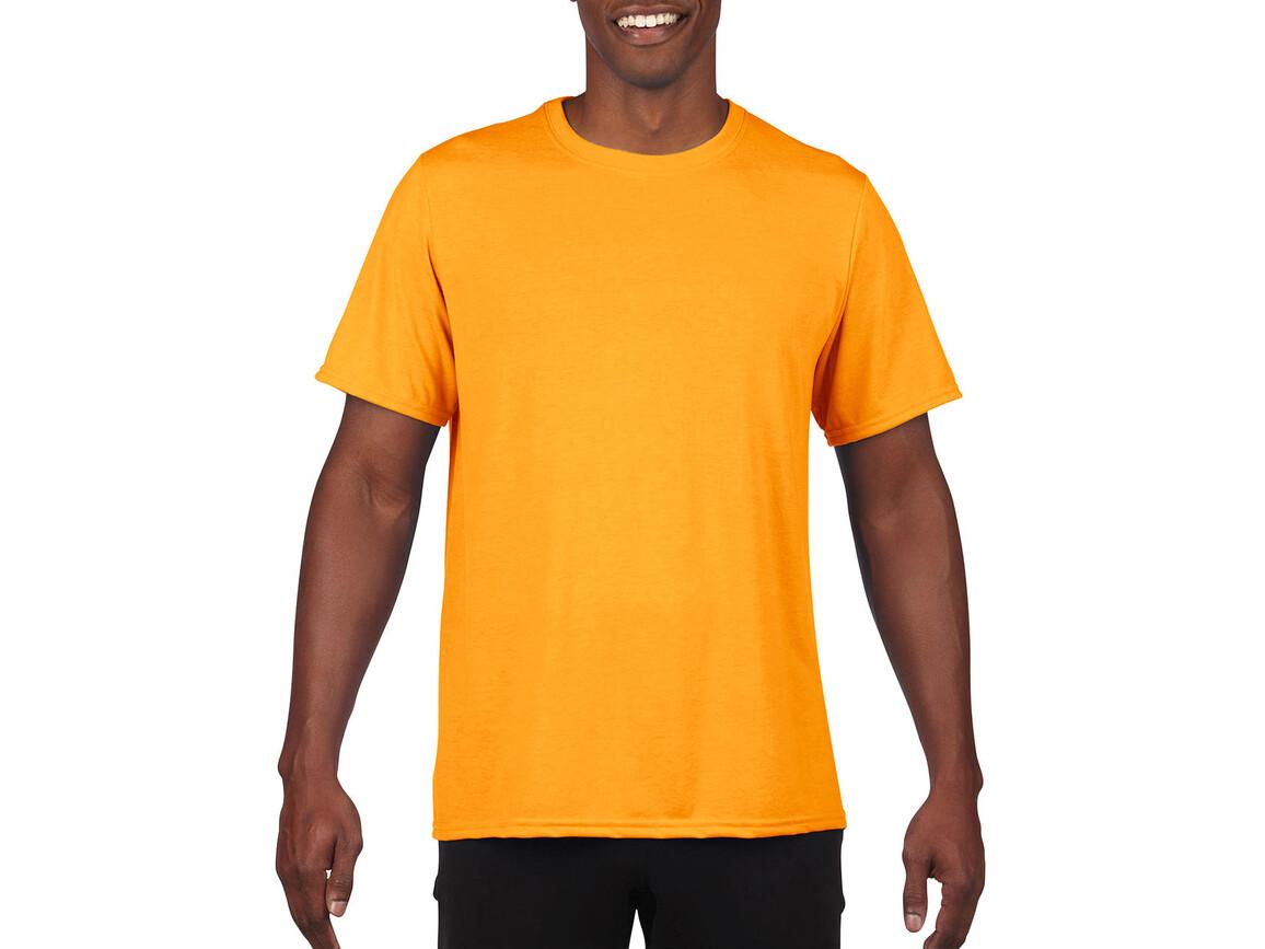 Gildan Performance Adult Core T-Shirt, Sport Athletic Gold, 2XL bedrucken, Art.-Nr. 011096117