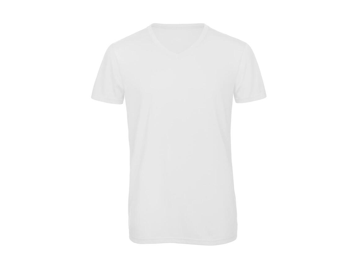B & C V Triblend/men T-Shirt, White, M bedrucken, Art.-Nr. 011420004
