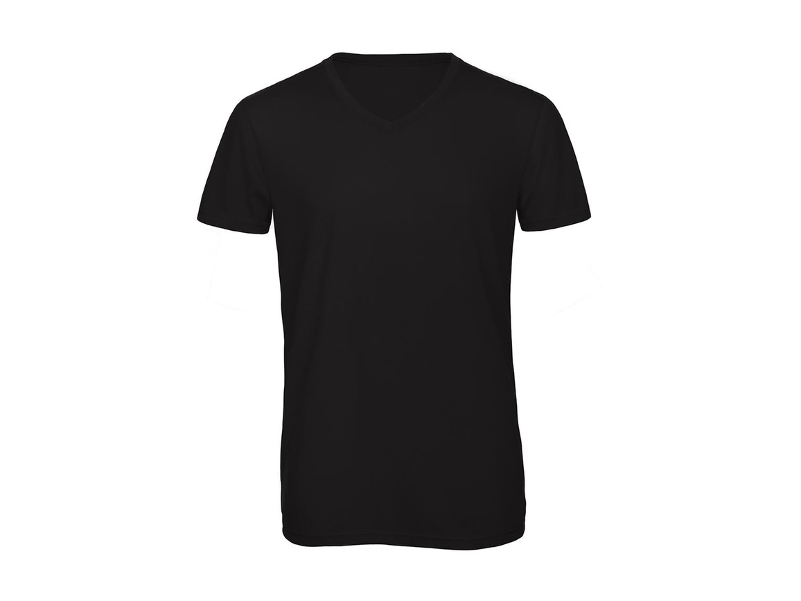 B & C V Triblend/men T-Shirt, Black, L bedrucken, Art.-Nr. 011421015