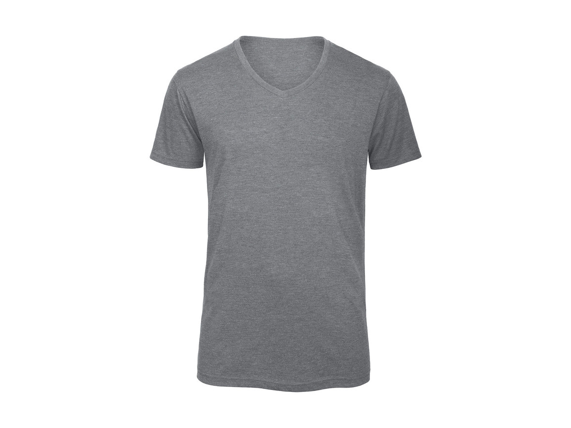 B & C V Triblend/men T-Shirt, Heather Light Grey, M bedrucken, Art.-Nr. 011421134