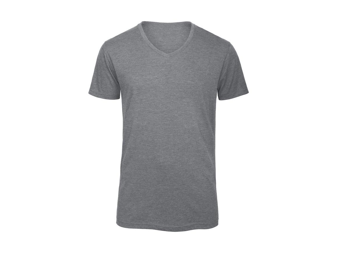 B & C V Triblend/men T-Shirt, Heather Light Grey, S bedrucken, Art.-Nr. 011421133