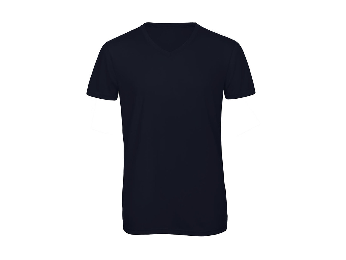 B & C V Triblend/men T-Shirt, Navy, S bedrucken, Art.-Nr. 011422003