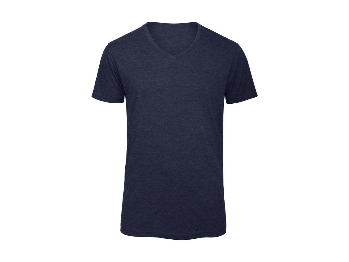 B & C V Triblend/men T-Shirt, Heather Navy, L bedrucken, Art.-Nr. 011422045