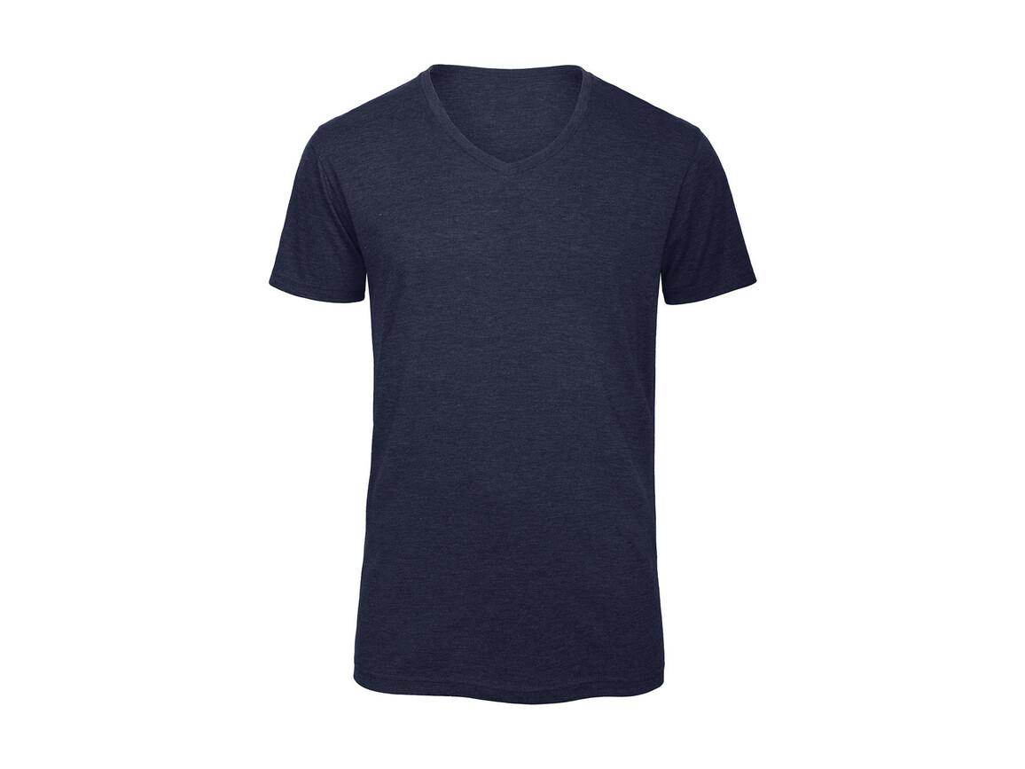 B & C V Triblend/men T-Shirt, Heather Navy, M bedrucken, Art.-Nr. 011422044