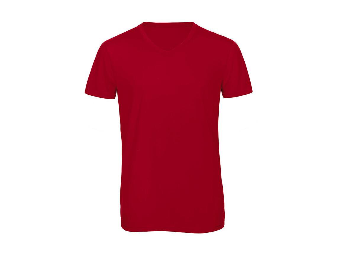 B & C V Triblend/men T-Shirt, Red, L bedrucken, Art.-Nr. 011424005