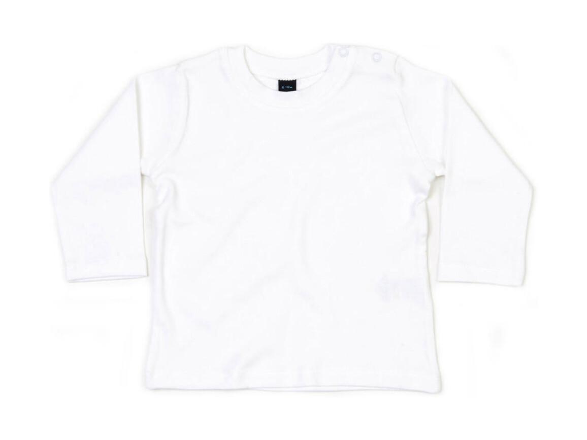 BabyBugz Baby Longsleeve Top, White, 6-12 bedrucken, Art.-Nr. 011470003
