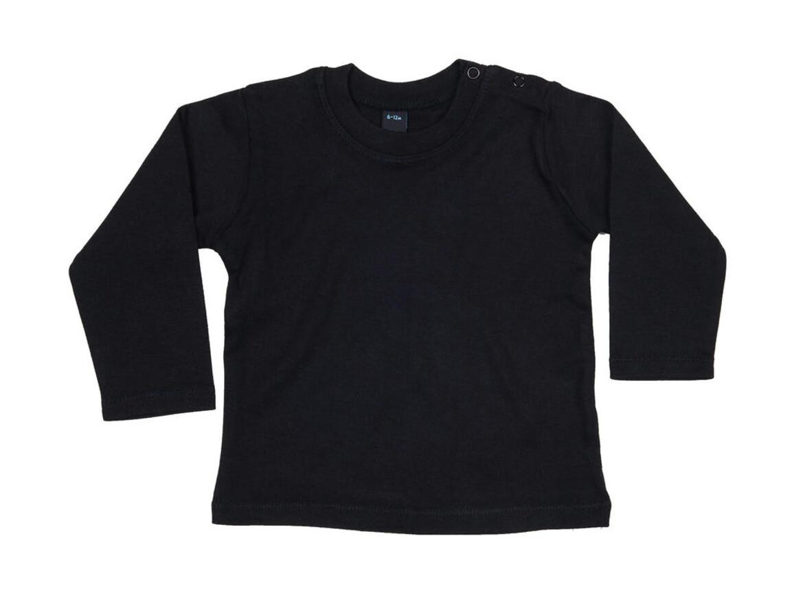 BabyBugz Baby Longsleeve Top, Black, 6-12 bedrucken, Art.-Nr. 011471013