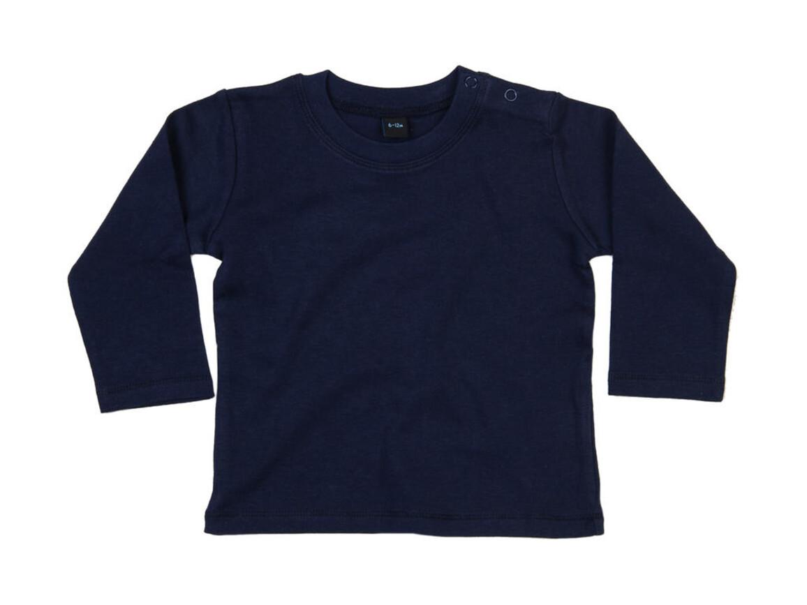 BabyBugz Baby Longsleeve Top, Nautical Navy, 12-18 bedrucken, Art.-Nr. 011472014