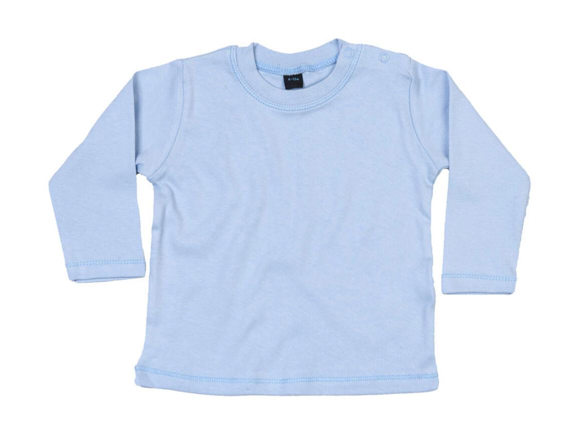 BabyBugz Baby Longsleeve Top, Dusty Blue, 18-24 bedrucken, Art.-Nr. 011473115