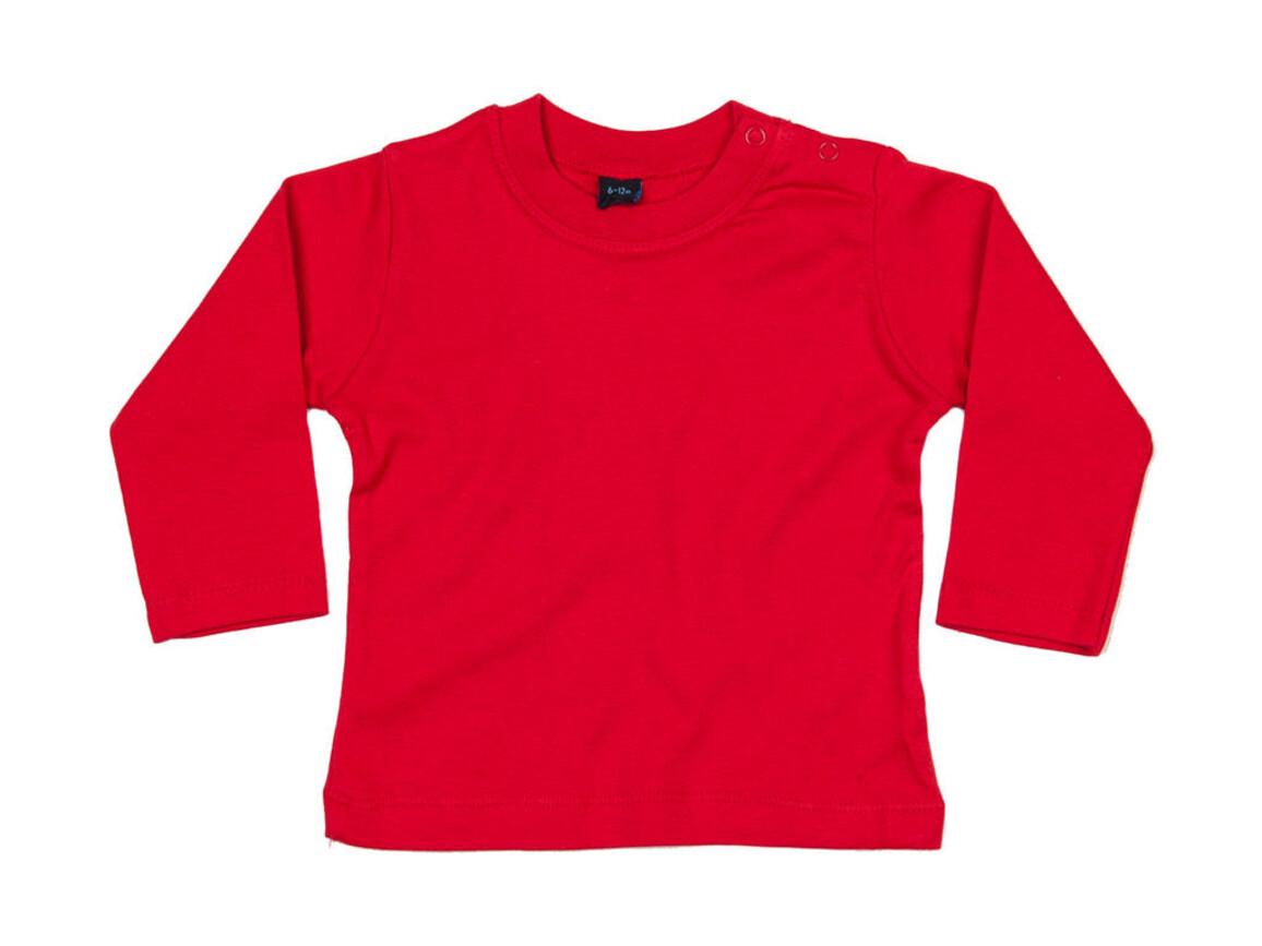 BabyBugz Baby Longsleeve Top, Red, 18-24 bedrucken, Art.-Nr. 011474005