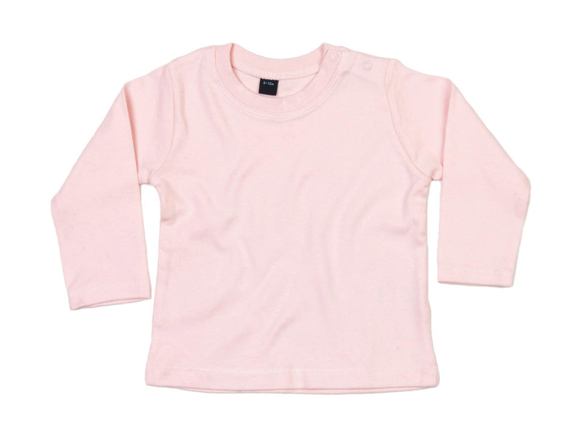 BabyBugz Baby Longsleeve Top, Powder Pink, 18-24 bedrucken, Art.-Nr. 011474175
