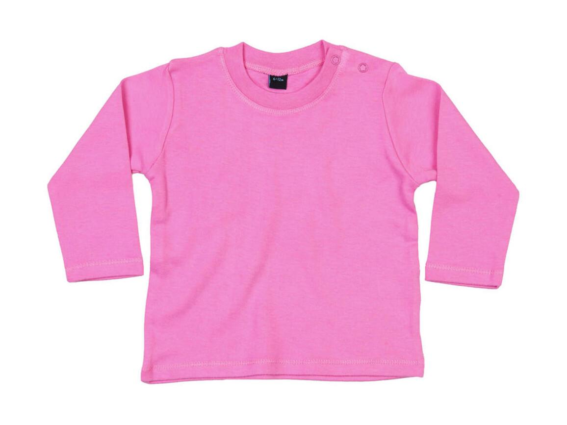 BabyBugz Baby Longsleeve Top, Bubble Gum Pink, 18-24 bedrucken, Art.-Nr. 011474225