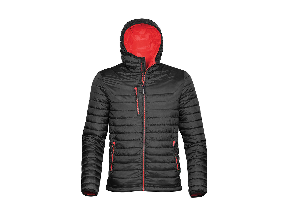 StormTech Gravity Thermal Jacket, Black/True Red, 2XL bedrucken, Art.-Nr. 012181637