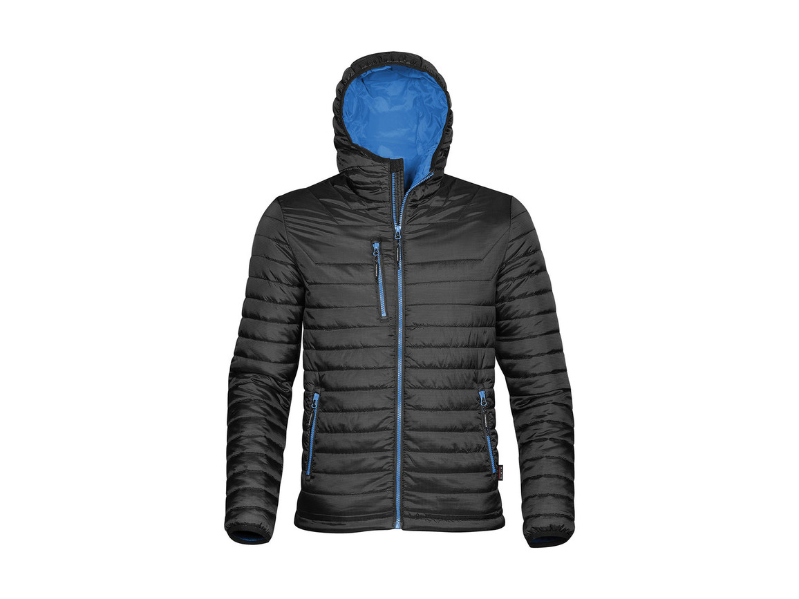 StormTech Gravity Thermal Jacket, Black/Marine Blue, 3XL bedrucken, Art.-Nr. 012181688