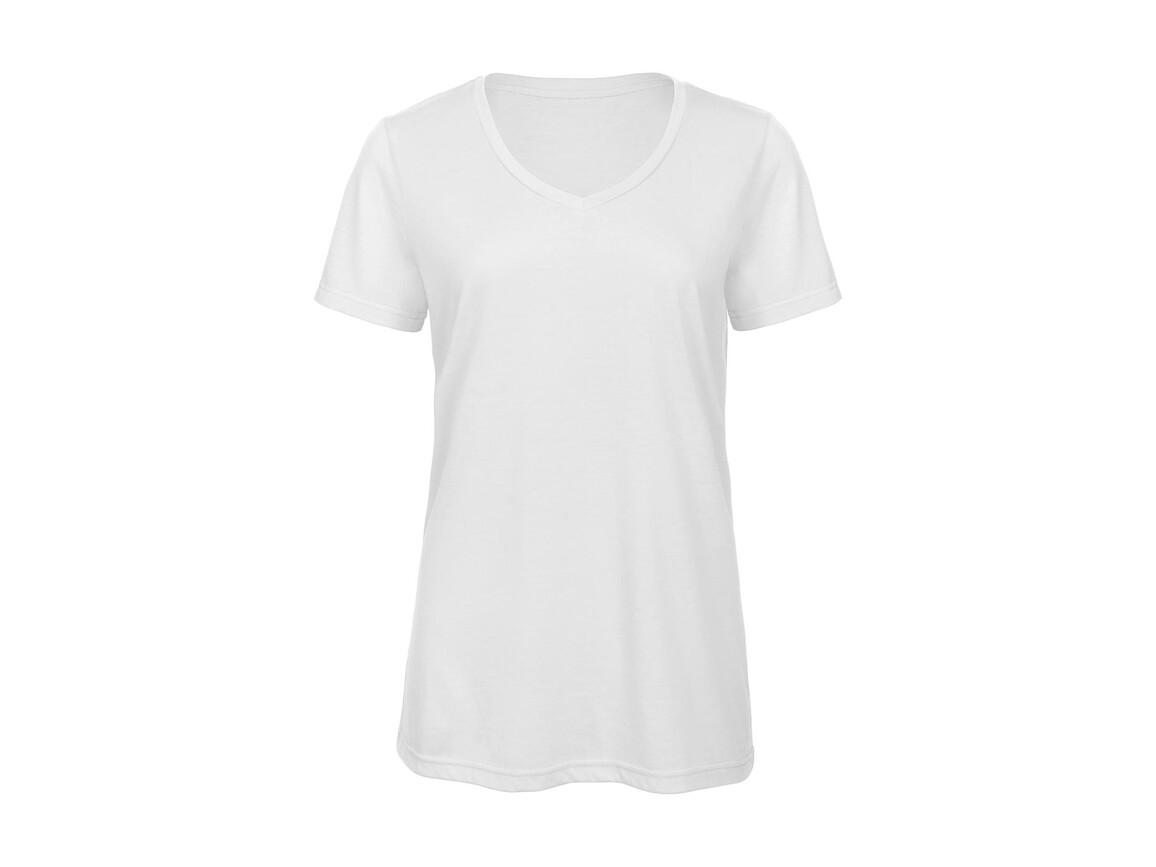 B & C V Triblend/women T-Shirt, White, M bedrucken, Art.-Nr. 012420004