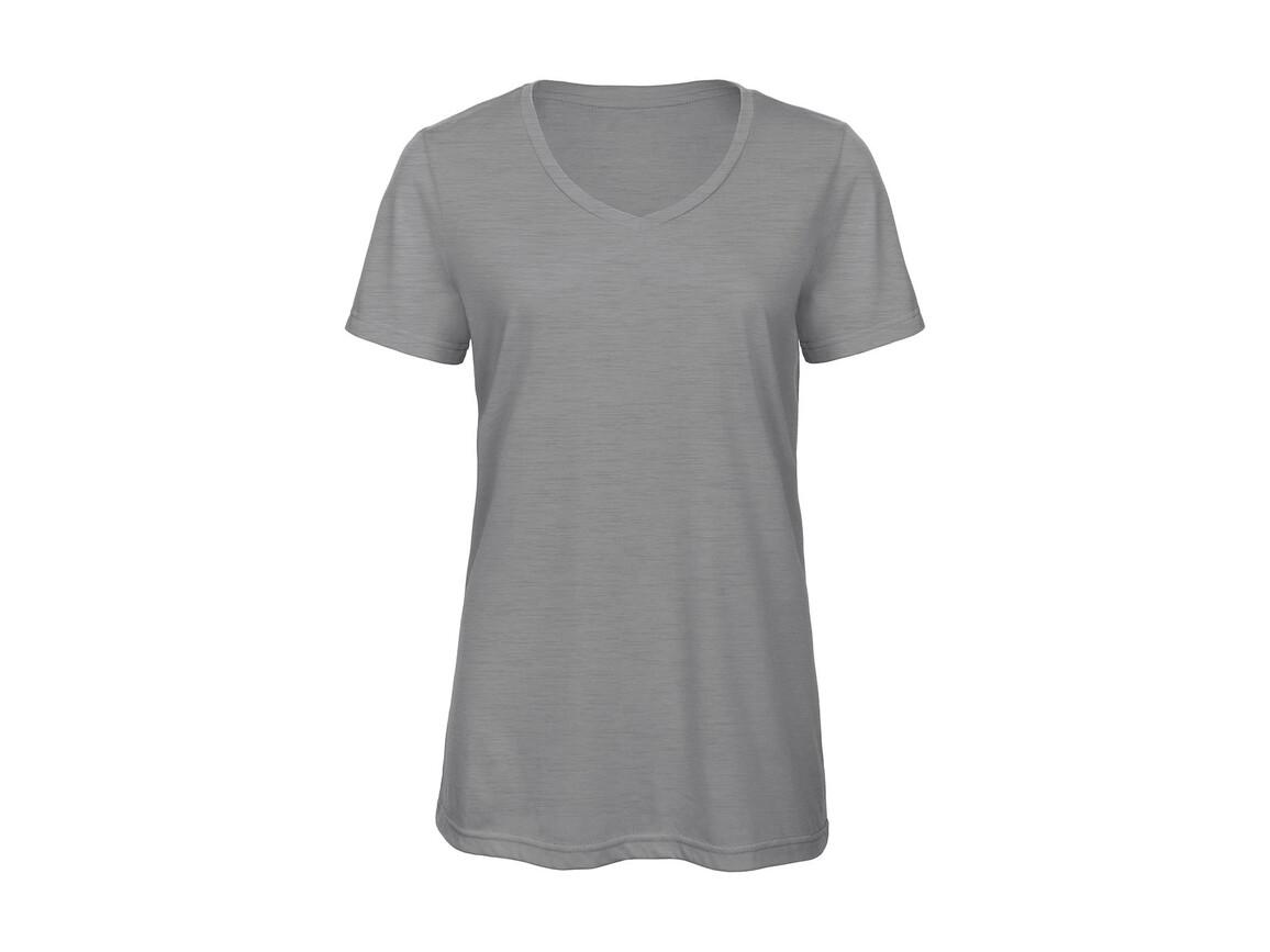 B & C V Triblend/women T-Shirt, Heather Light Grey, XL bedrucken, Art.-Nr. 012421136