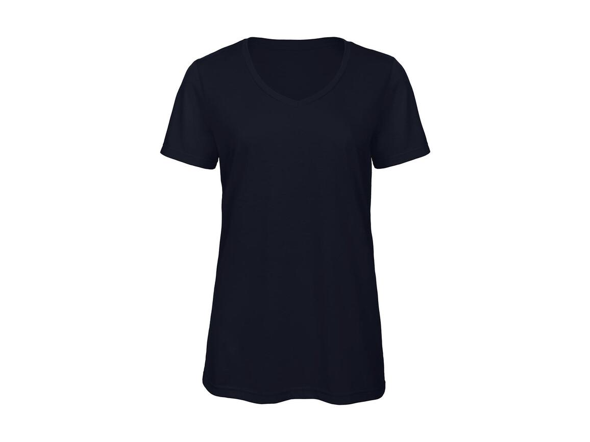 B & C V Triblend/women T-Shirt, Navy, M bedrucken, Art.-Nr. 012422004