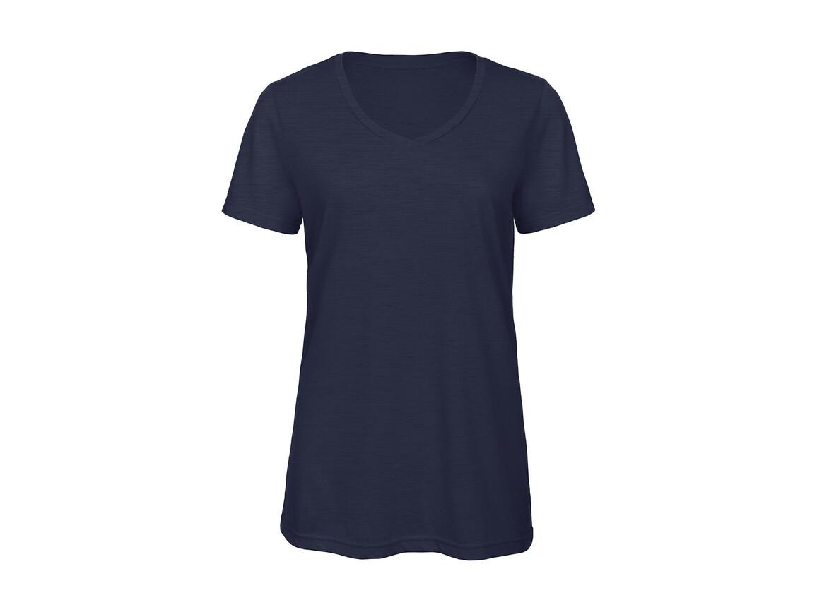 B & C V Triblend/women T-Shirt, Heather Navy, XL bedrucken, Art.-Nr. 012422046
