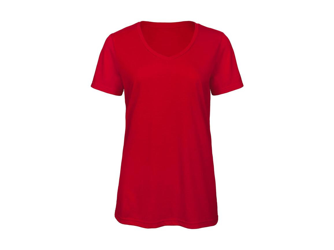 B & C V Triblend/women T-Shirt, Red, S bedrucken, Art.-Nr. 012424003