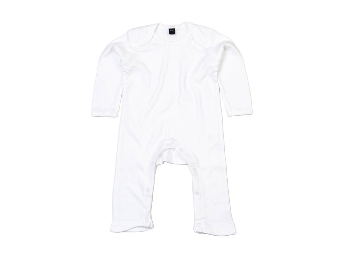 BabyBugz Baby Rompasuit, White, 12-18 bedrucken, Art.-Nr. 013470004