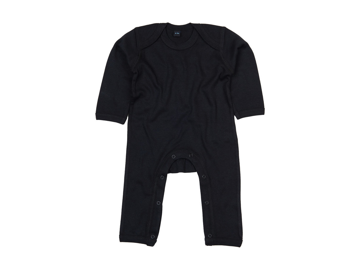 BabyBugz Baby Rompasuit, Black, 12-18 bedrucken, Art.-Nr. 013471014