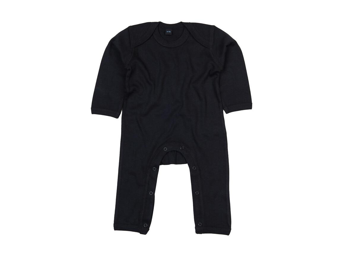 BabyBugz Baby Rompasuit, Black, 3-6 bedrucken, Art.-Nr. 013471012